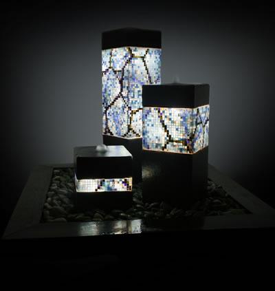 Mosaic Lit Fountain