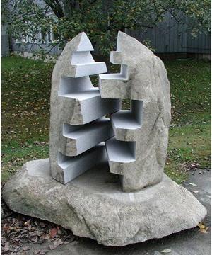 Zipper stone sculpture