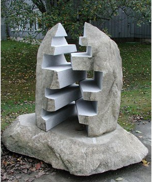 Zipper stone sculpture
