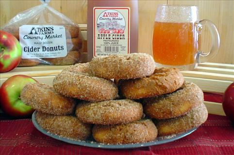 donuts and apple cider from Atkins Market