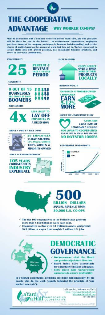 Infographic on economic and social impact of cooperatives