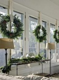 Wreaths and garland aren't just for the front door. Bring them inside for a natural look and fresh fragrance.